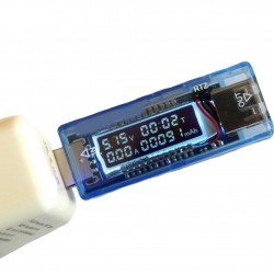 USB VOLT CURRENT 3-9V TESTER DUEL METER